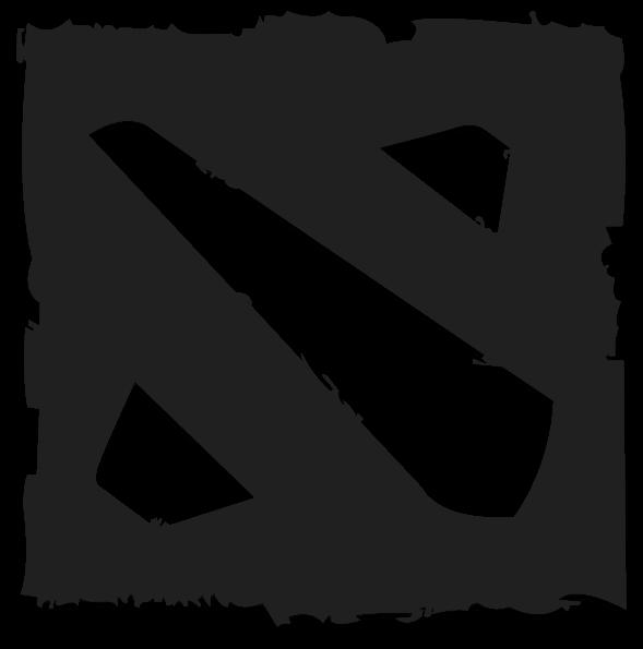 Dota 2 Logo In Black and White