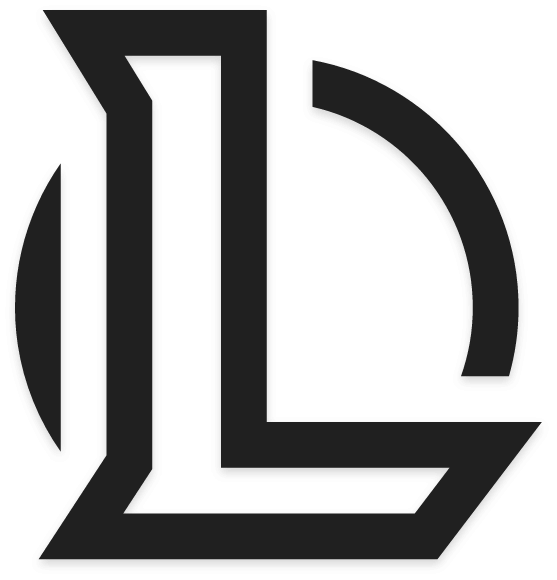 League of Legends Logo In Black and White