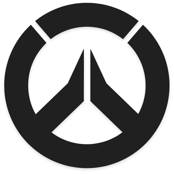 Overwatch Logo In Black and White