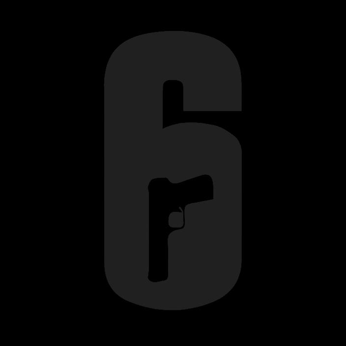 Rainbox Six Siege Logo In Black and White