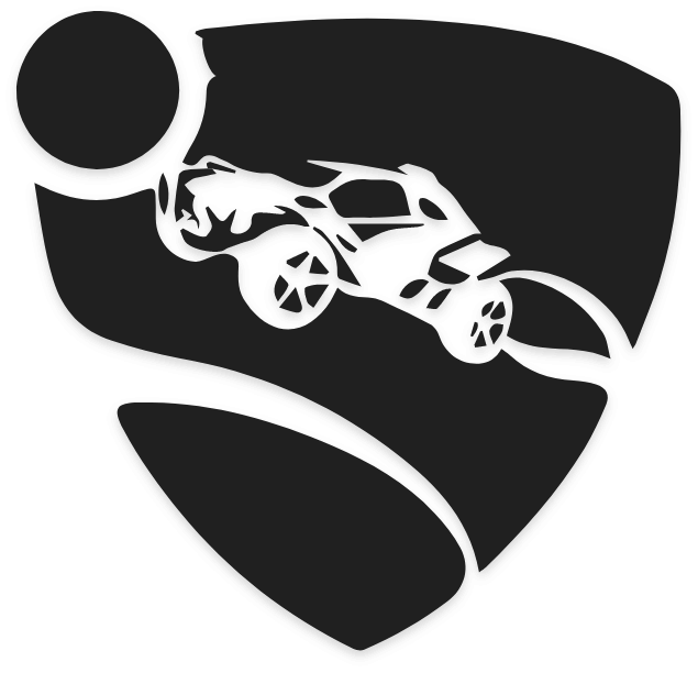 Rocket League Logo In Black and White