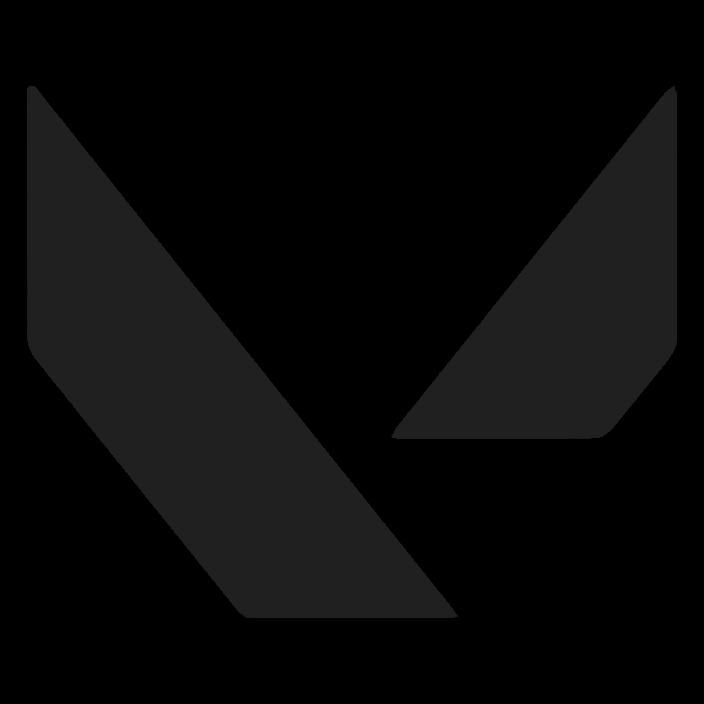 Valorant Logo In Black and White
