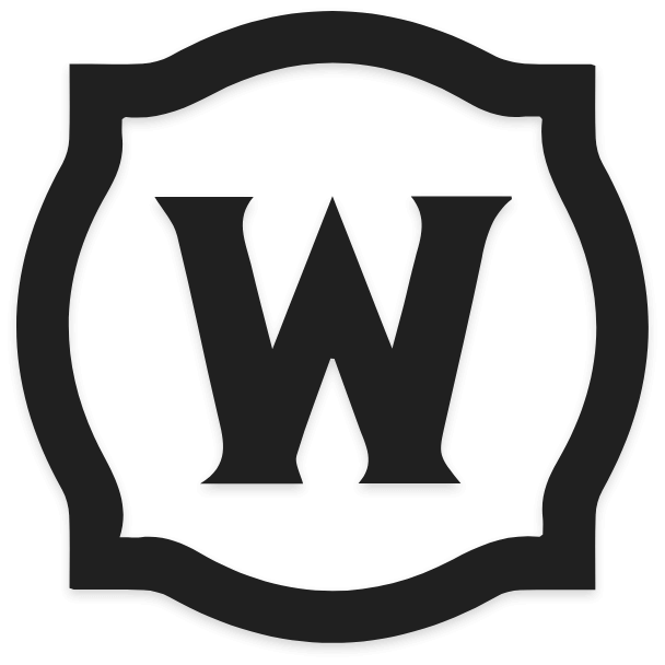 World Of Warcraft Logo In Black and White