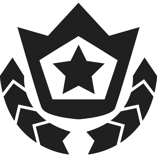 Arena Boosting Icon In Black and White