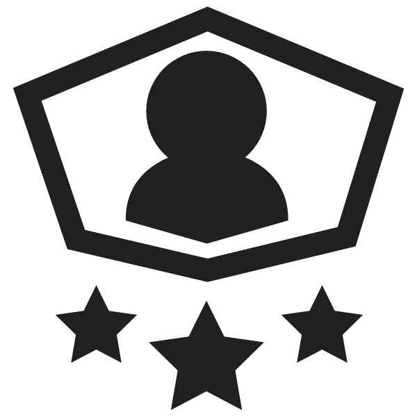 Level Boost Icon In Black and White