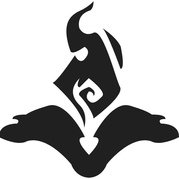 Division Boost Icon In Black and White